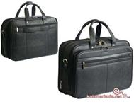 8818- Luxline Leather Laptop Computer Bag - Branded / printed with logo @ www.giftsngadgets.co.