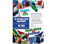 South Africa vs Scotland and Samoa vs Italy Test Tickets