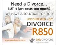 SAVE THOUSANDS ON YOUR DIVORCE | UNCONTESTED DIVORCES ONLY R850