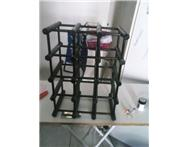 Wooden Black Wine Rack