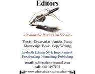 Professional Editor Proofreader & Copy Writer