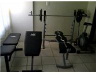 GYM SET.ROMAN CHAIR BENCH BICYCLE