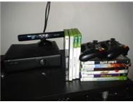 250 Gig XBOX 360S with Kinect Plus Guitars and Games for Sale!