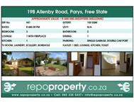 Looking to Retire? 19B Allenby Rd Parys Free State is the one for you!