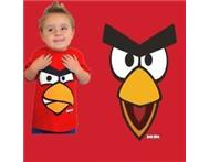Boys Girls Red Angry Birds T Shirt Top Ages 5-13 Years Kids