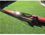 Javelin canoe paddle and life jacket