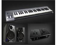 M-Audio studio package with one year warranty
