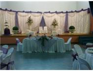 wedding venue fully draped