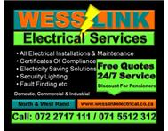 Electrician Sandton Call Wesslink Electrical (Pty) Ltd 0722717111 Electrical Contractors in Electrical & Plumbing Gauteng Fourways - South Africa