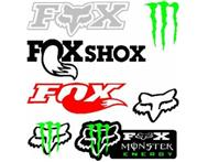 Fox & Monster decals car stickers