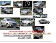 SPECIALISING IN MERCEDES BENZ NEW BODY PARTS-RADIATORS------