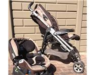 Peg Perego pliko 3 mokka pram and car seat. great condition