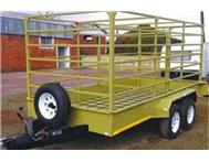 Cattle 4m x 1.8 x1.7m 2.4 Ton Double Axle 14 wheels-