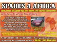 SPARES FOR AFRICA..USED SPARES & New body panels & SCRAPYARD