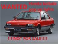 WANTED Honda Ballade pop up type cash and collect