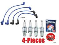 NGK High Performance Wire Set & 4-NGK Iridium Spark Plugs Mazda