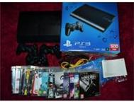 PS3 slim 500Gb with 3 Controllers 14 Games HDMI Cable Cape Town