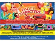 Party Characters Packages Special of 10 kids only R250!!!