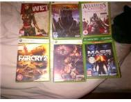 6 Xbox games for sale