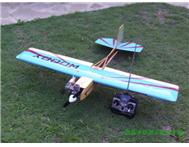 1.2 meter W/span shoulder wing R/C model aircraft with motor and servos.