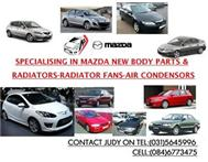 SPECIALISING MAZDA NEW BODY PARTS-RADIATORS-RADIATOR FANS-----