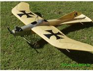 One sixth scale Etrich Taube R/C model aircraft with motor and servos installed