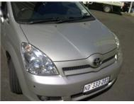 Toyota Corolla Verso 160i 7-seater 2007 - excellent condition