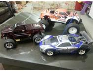 A RANGE OF NITRO RADIO CONTROLLED CARS