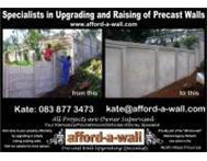 Pre-cast Wall Upgrading Specialist - Affordable Walls Klerksdorp
