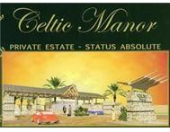 Upmarket stand in the secure Celtic Manor Estate Raslouw Centurion R 365000.00
