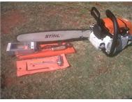 Chain saws STHIL 381 and STHIL 170 extra chains sharpening files