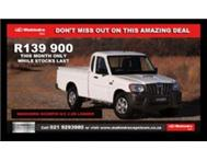 2013 Mahindra Scorpio single cab 2.5D Brand new from R159 900