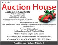 Loose Asset Auction - Saturday 25 August 2012 General Auction in Activities & Hobbies North West Hartbeespoort & Dam - South Africa