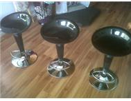 3 Boardmans black bar stools (height adjustable) excellent cond.