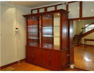 SHOP FITTINGS - SOLID MAHOGANY DISPLAY CABINETS - MASTER CRAFTED