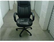 BLACK LEATHER TOUCH OFFICE CHAIRS