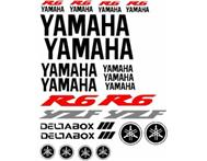 R6 Yamaha bike decals stickers