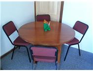 Office Furniture - Round Table with 4 x Chairs