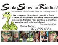 Snake show Party Pack Face Painter Photos = R300