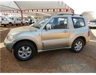 Mitsubishi Pajero 3.8 GLS A/T 3Dr A/C P/S Finance available!!