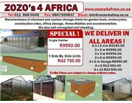 Steel sheds Wendy Zozo Huts site offices D I Y Roof sheeting ibr