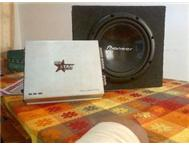 Starsound amp and Pioneer sub