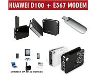 Huawei D100 mini 3g / wifi router Plus Huawei e367 - 21mbps 3g modem included