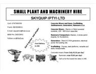 Small Plant and Construction Machin...