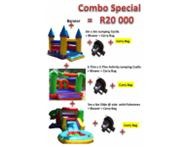 3 New Jumping Castles for sale with Blowers and Carry Bag.