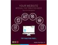 Create your own website in three easy steps and try it for free!