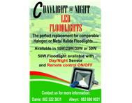 50w led floodlight With day/Night Sensor and Remote on/off