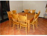 Dining room table and 8 chairs (ore...