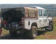 Canvas canopy with aluminium frame to fit Land Rover Defender130