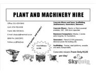 Construction machinery and Plant hi...